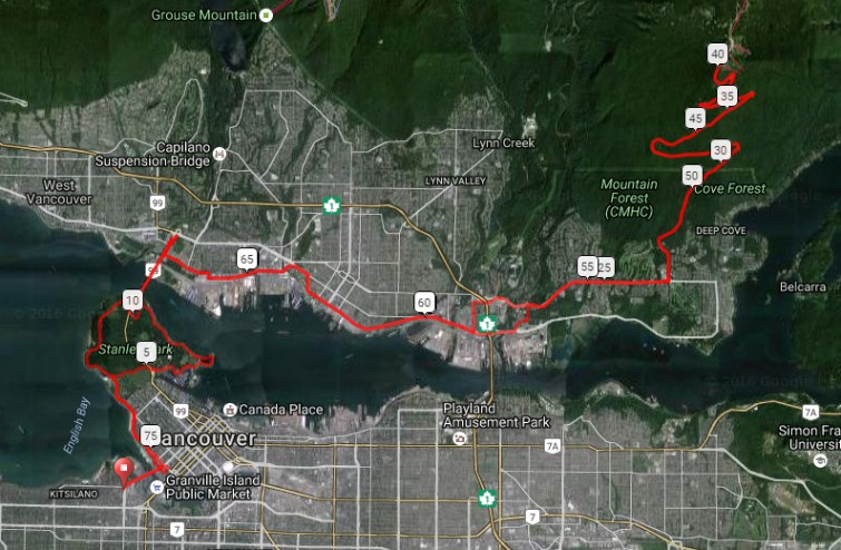 Vancouver Cycling Routes